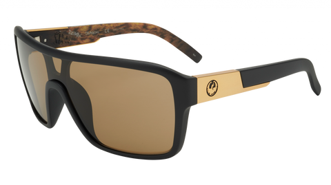 Dragon - Remix 60mm Matte Black Lynxx Sunglasses / Brown Lenses