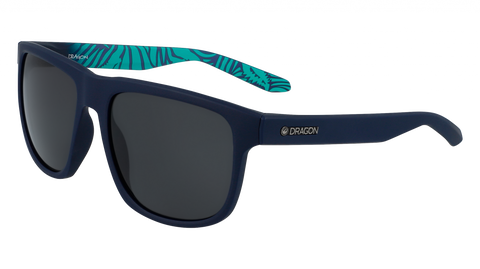 Dragon - Sesh 56mm Matte Navy Tropics Sunglasses / Smoke Lenses