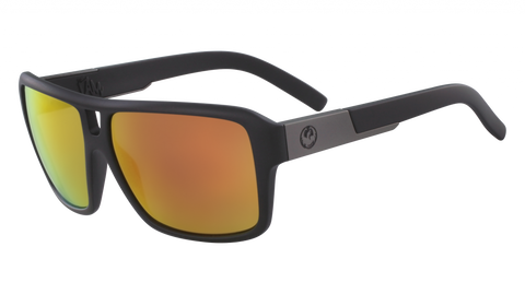 Dragon - The Jam 60mm Matte Black Sunglasses / Red Ion Lenses