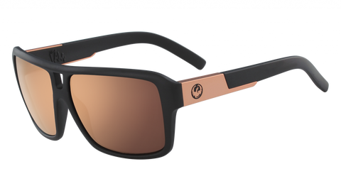 Dragon - The Jam 60mm Matte Black Sunglasses / Rose Gold Ion Lenses