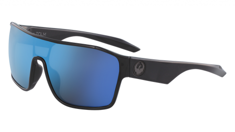 Dragon - Tolm 47mm Matte Black Sunglasses / Blue Ion Lenses