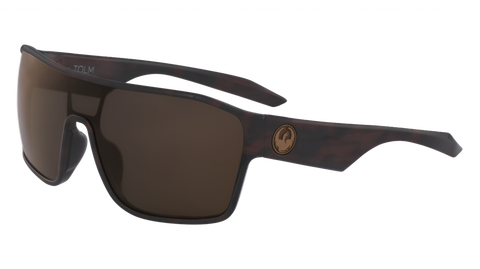 Dragon - Tolm 47mm Matte Tortoise Sunglasses / Brown Lenses