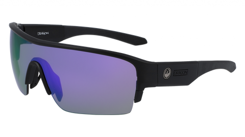 Dragon - Tracer X 61mm Matte Black Sunglasses / Violet Ion Lenses