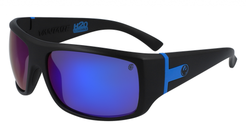 Dragon - Vantage H2O 63mm Matte Black Sunglasses / Blue Ion Polarized Lenses