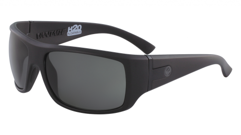 Dragon - Vantage H2O 63mm Matte Black Sunglasses / Smoke Polarized Lenses