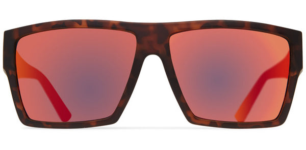 Dot Dash - Nillionaire Dark Tort Black Sunglasses / Red Charm Lenses
