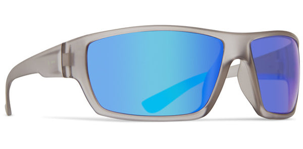 Dot Dash - Private Eyes Grey Frost Satin Sunglasses / Blue Lenses