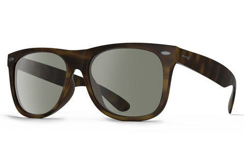 Dot Dash - Kerfuffle Tortoise TOR Sunglasses, Retro Grey Lenses