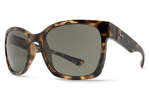Dot Dash - Frequency Tortoise Satin TOR Sunglasses, Retro Grey Lenses