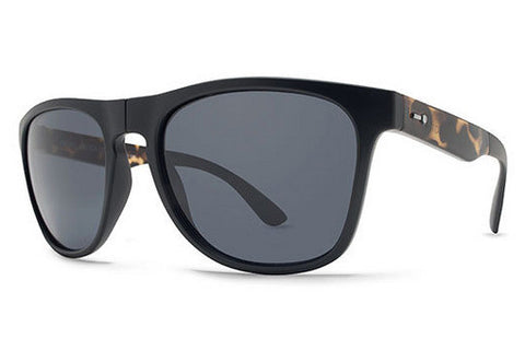 Dot Dash - Kookookachu Black Tortoise Satin TBS Sunglasses, Grey Lenses