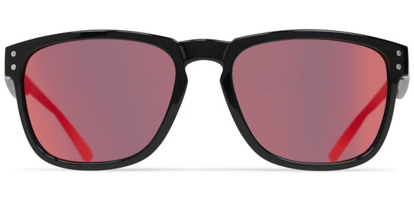 Dot Dash - Bootleg Black Gloss  Sunglasses / Red Chrome Lenses