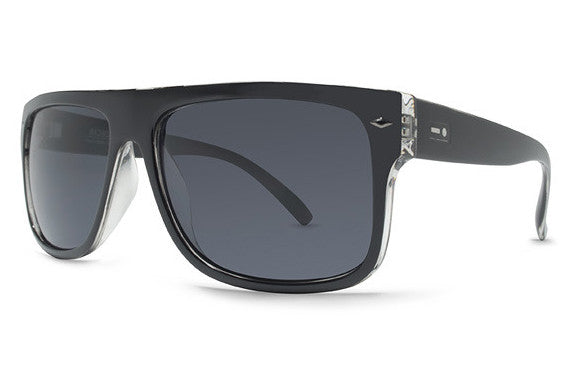 Dot Dash - Sidecar Black Clear BKG Sunglasses, Grey Lenses