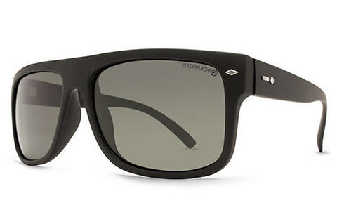 Dot Dash - Sidecar Black Satin BSP Sunglasses, Grey Polarized Lenses