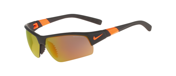 Nike - Show X2 Pro R EV0806 Matte Deep Pewter Total Orange Shatter Sunglasses / Grey Orange Lenses