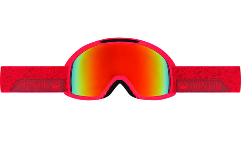 Dragon - DX2 Stone Red / Red Ionized + Amber Goggles