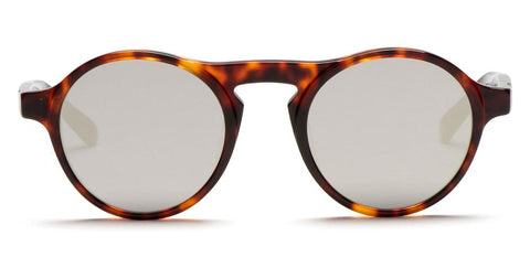 Westward Leaning - Dyad 0.1 Polished Classic Tortoise Acetate Sunglasses / Zero Base Super Silver Mirror Lenses