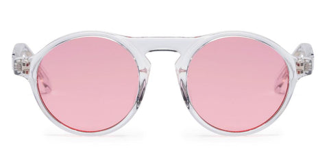 Westward Leaning - Dyad 0.8 Polished Crystal Acetate Sunglasses / Pink Tint Lenses