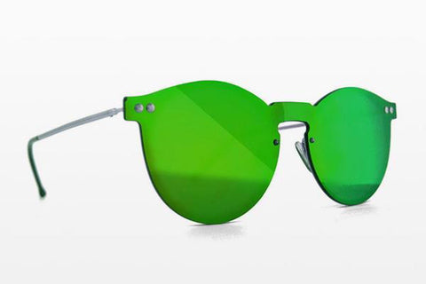 Spitfire - Orphius Silver Sunglasses / Green Mirror Lenses