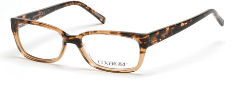 Cover Girl - CG0536 Havana Eyeglasses / Demo Lenses