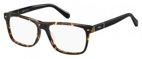 Fossil - Fos 6087 53mm Dark Havana Eyeglasses / Demo Lenses