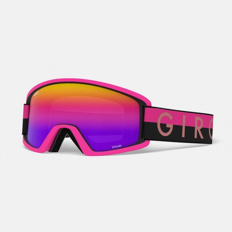 Giro - Dylan Black + Pink Throwback Snow Goggles / Rose Spectrum + Yellow Lenses