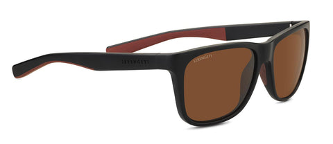 Serengeti - Livio Sanded Black Sunglasses / Mineral Polarized Drivers Brown Lenses