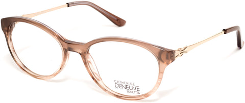 Catherine Deneuve - CD0422 49mm Shiny Light Brown Eyeglasses / Demo Lenses