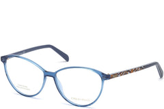 Emilio Pucci - EP5047 Shiny Blue Eyeglasses / Demo Lenses