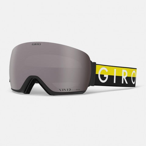 Giro - Article Black + Yellow Throwback Snow Goggles / Vivid Onyx + Vivid Infrared Lenses