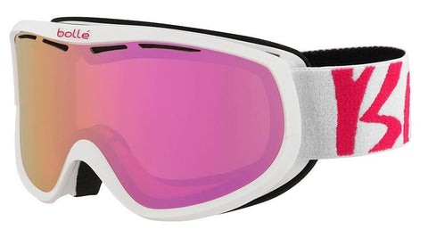 Bolle - Sierra White Pink Snow Goggles / Rose Gold Lenses