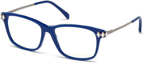 Emilio Pucci - EP5054 Shiny Blue Eyeglasses / Demo Lenses