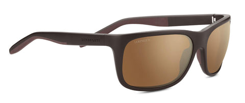 Serengeti - Ettore Sanded Brown Sunglasses / Mineral Polarized Drivers Gold Lenses