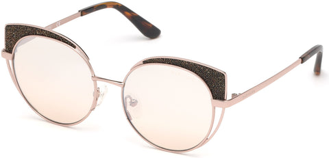Marciano - GM0796 Shiny Rose Gold Sunglasses / Gradient Lenses