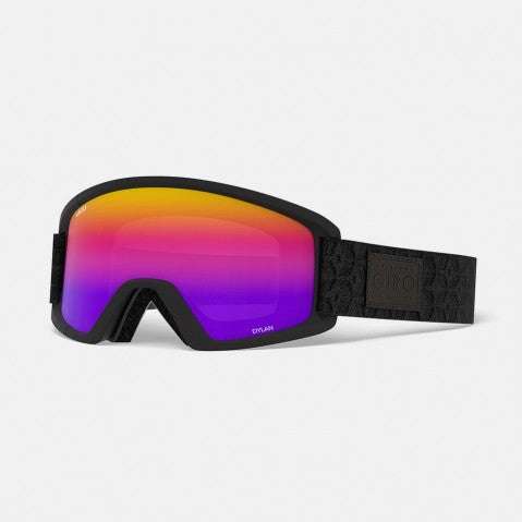 Giro - Dylan Asian Fit Black Quilted Snow Goggles / Rose Spectrum + Yellow Lenses