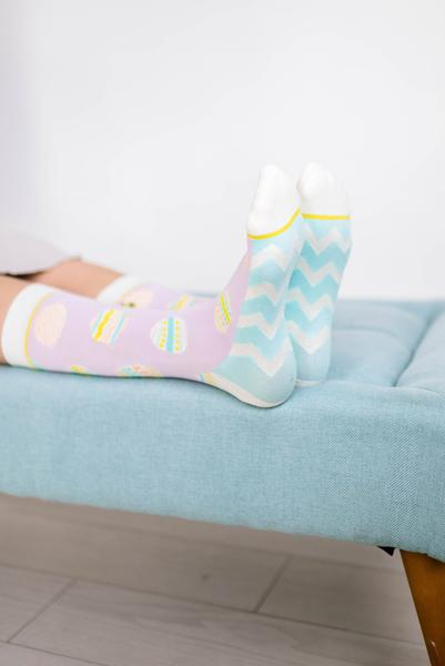 Woven Pear - Easter Eggs Socks