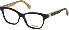 Roberto Cavalli - RC5050 Fivizzano Black + Light Brown Eyeglasses / Demo Lenses