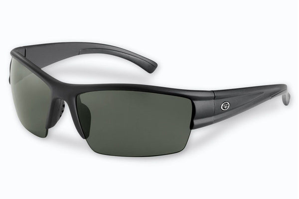 Flying Fisherman - Edge 7378 Matte Black Sunglasses, Smoke Lenses