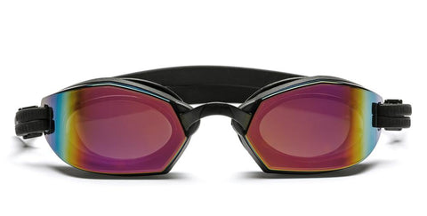 Westward Leaning - Dive 01 Matte Black Swim Goggles / Rose Gold Mirror Lenses