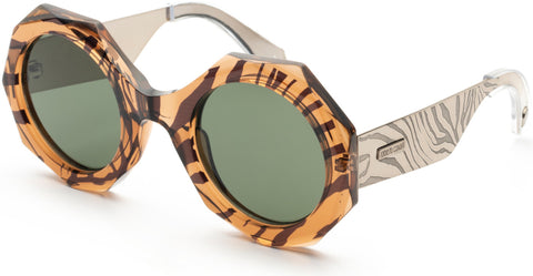 Roberto Cavalli - RC1113 Light Brown Sunglasses / Green Lenses