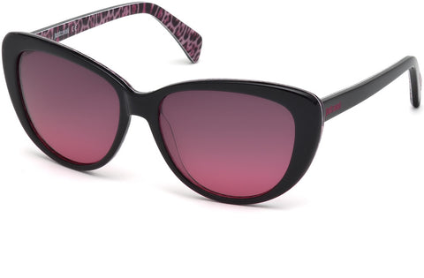 Just Cavalli - JC646S Black Sunglasses / Gradient Bordeaux Lenses