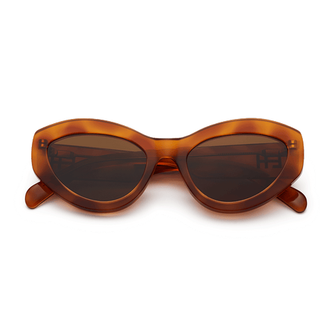CHiMi - Just Right 52mm Tortoise Sunglasses / Brown Lenses