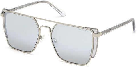 Marciano - GM0789 Shiny Light Nickeltin Sunglasses / Gradient Smoke Lenses