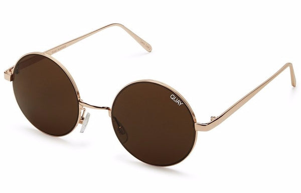 Quay Electric Dreams Gold / Brown Sunglasses