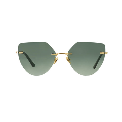 Spektre - Miller Gold Sunglasses / Gradient Green Lenses
