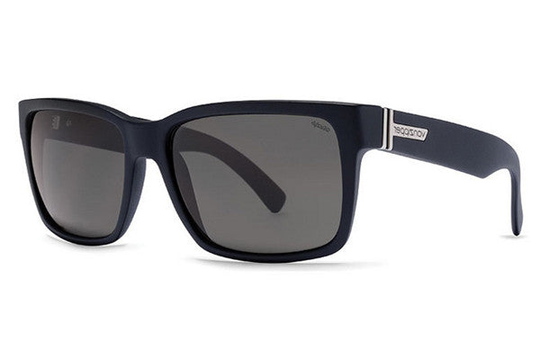 VonZipper - Elmore Black Smoke Satin PSV Sunglasses, Wildlife Vintage Grey Polarized Lenses