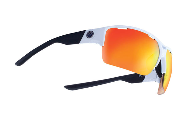 Dragon - EnduroX White Black / Ion + Clear Sunglasses