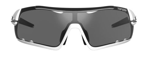 Tifosi - Davos White Black Sunglasses / Smoke AC Red Clear Lenses