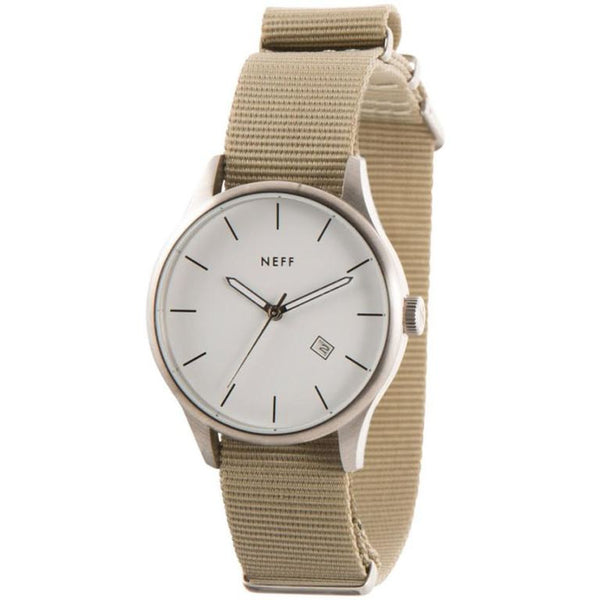 Neff - Esteban Silver/Tan Watch