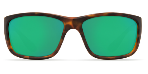 Costa - Tasman Sea Matte Retro Tortoise Sunglasses / Green Polarized Plastic Lenses