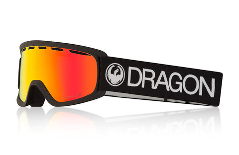 Dragon - Lil D Black Snow Goggles / Lumalens Red Ion Lenses